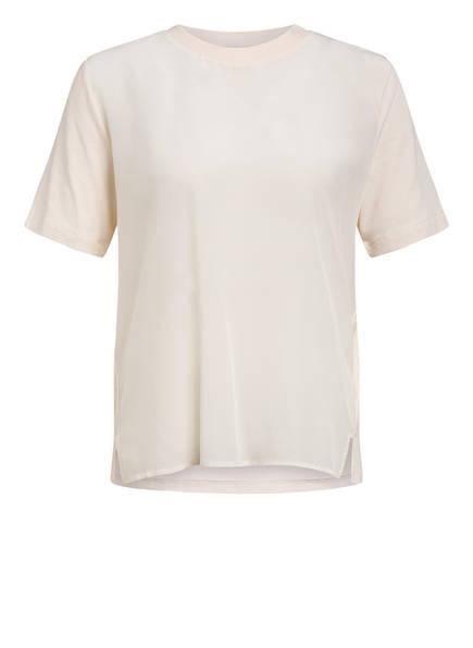 RENÉ LEZARD T-Shirt im Materialmix, Farbe: ECRU (Bild 1)