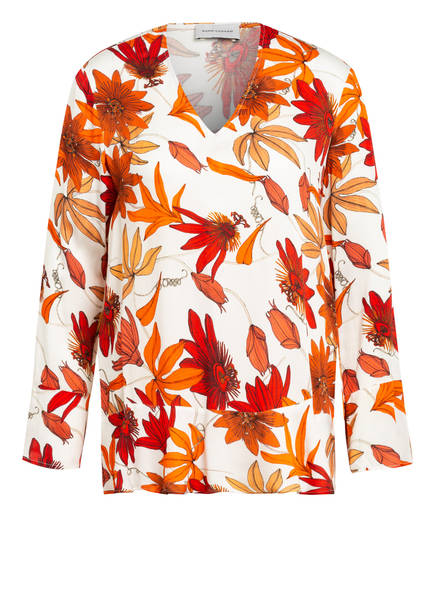 RENÉ LEZARD Blusenshirt, Farbe: ECRU/ ORANGE (Bild 1)