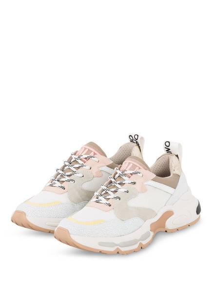 MÉLINÉ Plateau-Sneaker, Farbe: WEISS/ ROSA/ GRAU (Bild 1)