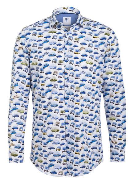 R2 Amsterdam Hemd Modern Fit, Farbe: WEISS/ BLAU (Bild 1)