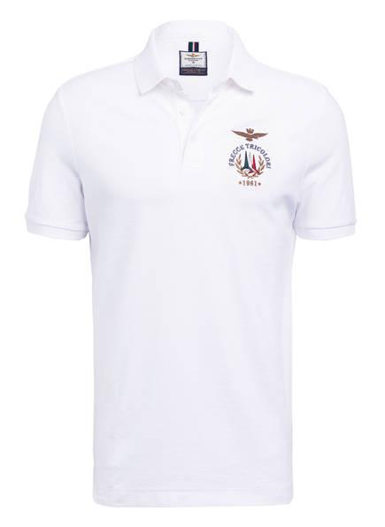AERONAUTICA MILITARE Piqué-Poloshirt, Farbe: WEISS (Bild 1)