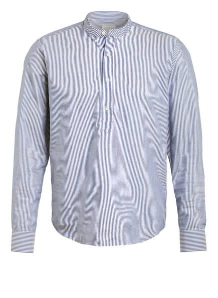 sandro Hemd Slim Fit mit Stehkragen, Farbe: BLAU/ WEISS (Bild 1)