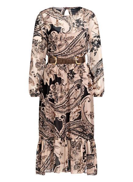RINASCIMENTO Kleid mit Volantbesatz, Farbe: HELLROSE/ CAMEL/ SCHWARZ (Bild 1)