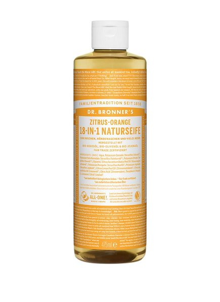 DR. BRONNER'S 18-IN-1 NATURSEIFE ZITRUS-ORANGE (Bild 1)