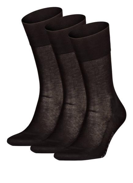 FALKE 3er-Pack Socken TIAGO, Farbe: 3000 BLACK (Bild 1)