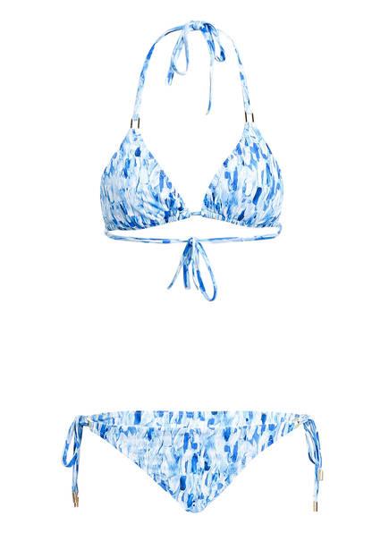 MELISSA ODABASH Triangel-Bikini CANCUN, Farbe: BLAU/ WEISS (Bild 1)