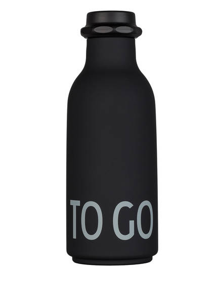 DESIGN LETTERS Trinkflasche TO GO, Farbe: SCHWARZ (Bild 1)