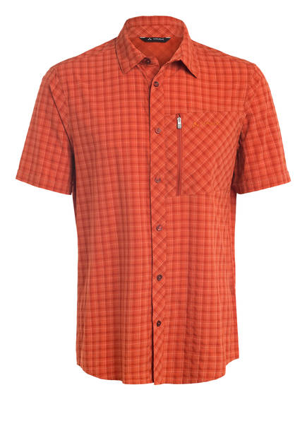 VAUDE Outdoor-Hemd SEILAND II, Farbe: ORANGE/ DUNKELORANGE KARIERT (Bild 1)