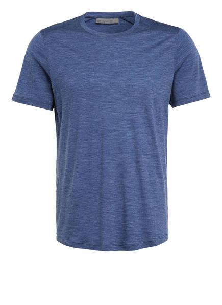 icebreaker T-Shirt SPHERE mit Merinowolle, Farbe: BLAU MELIERT (Bild 1)