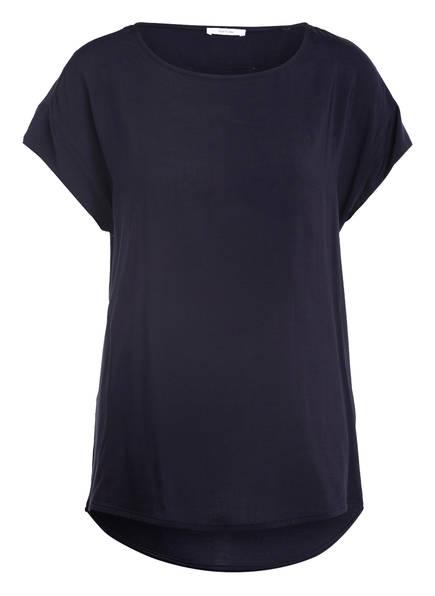 OPUS T-Shirt SKITA im Materialmix, Farbe: DUNKELBLAU (Bild 1)