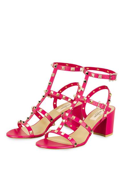 VALENTINO GARAVANI Sandaletten ROCKSTUD, Farbe: FUCHSIA (Bild 1)