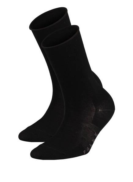 FALKE 2er-Pack Socken ACTIVE BREEZE, Farbe: SCHWARZ (Bild 1)