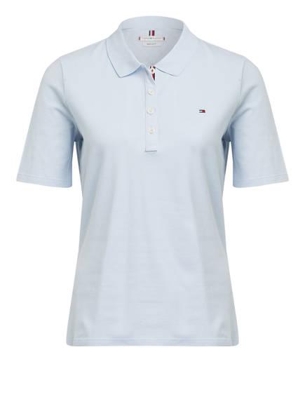 TOMMY HILFIGER Piqué-Poloshirt ESSENTIAL, Farbe: HELLBLAU (Bild 1)