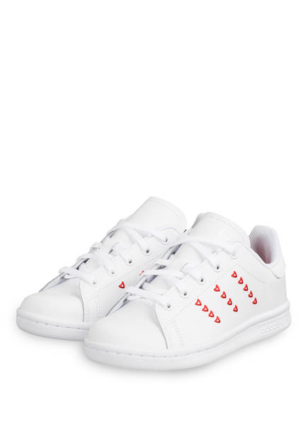 adidas Originals Sneaker STAN SMITH C, Farbe: WEISS/ ROT (Bild 1)