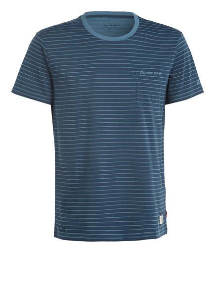 VAUDE T-Shirt ARENDAL, Farbe: DUNKELBLAU/ HELLBLAU GESTREIFT (Bild 1)