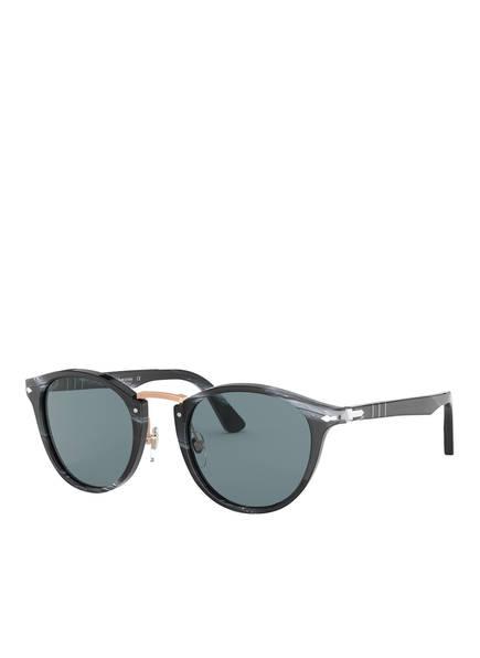 Persol Sonnenbrille PO3108S, Farbe: 111456 BLACK/ BLAU (Bild 1)