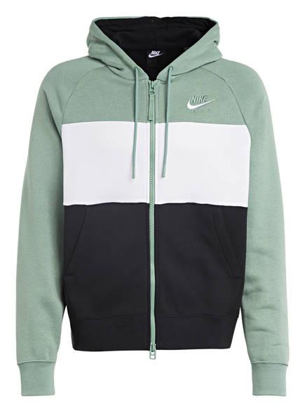 Nike Sweatjacke AIR, Farbe: SCHWARZ/ GRÜN/ WEISS (Bild 1)