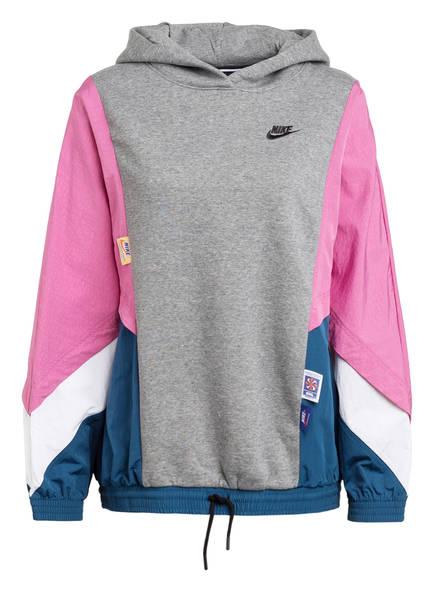 Nike Hybrid-Hoodie ICON CLASH, Farbe: GRAU/ PINK/ PETROL (Bild 1)