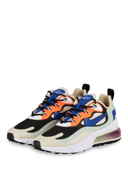 Nike Sneaker AIR MAX 270 REACT, Farbe: HELLGELB/ SCHWARZ/ BLAU (Bild 1)