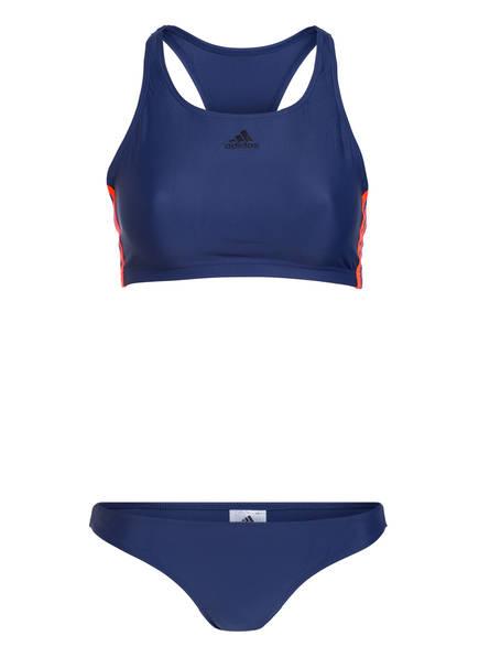 adidas Bustier-Bikini FIT , Farbe: BLAU/ ORANGE (Bild 1)