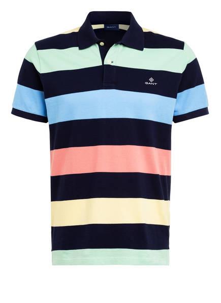 GANT Piqué-Poloshirt, Farbe: DUNKELBLAU/ GRÜN/ROSA GESTREIFT (Bild 1)