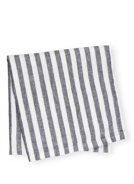 FRESCOBOL CARIOCA Strandtuch aus Leinen, Farbe: WEISS/ BLAU (Bild 1)