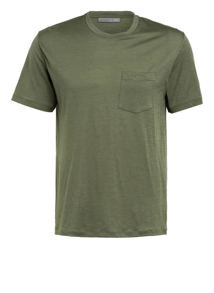 icebreaker T-Shirt RAVYN aus Merinowolle, Farbe: OLIV (Bild 1)