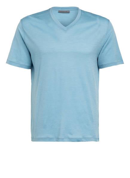 icebreaker T-Shirt RAVYN aus Merinowolle, Farbe: HELLBLAU (Bild 1)