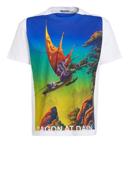VALENTINO T-Shirt FLOATING ISLANDS, Farbe: WEISS/ BLAU/ ORANGE/ GRÜN (Bild 1)