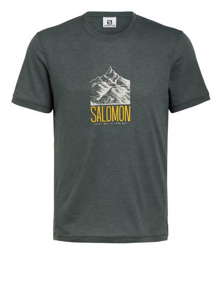 SALOMON T-Shirt EXPLORE GRAPHIC, Farbe: GRÜN (Bild 1)