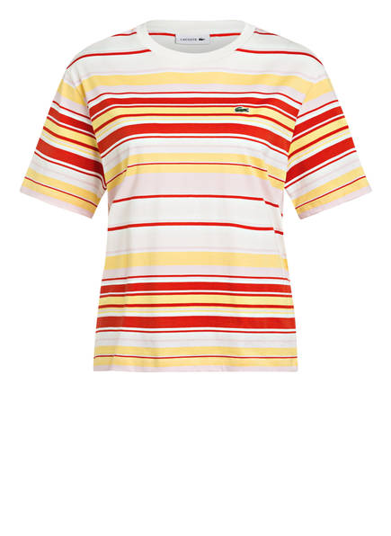LACOSTE T-Shirt , Farbe: WEISS/ GELB/ ROT (Bild 1)