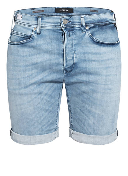 REPLAY Jeans-Shorts RBJ 901 Tapered Fit, Farbe: 010 LIGHT BLUE (Bild 1)