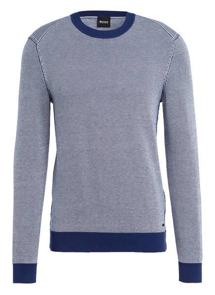 BOSS Pullover KOSUMI, Farbe: DUNKELBLAU/ WEISS (Bild 1)