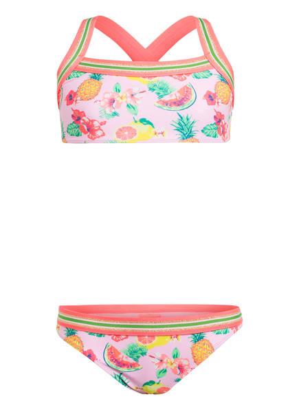 SUNUVA Bustier-Bikini PINK ALOHA mit UV-Schutz 50+, Farbe: ROSA/ PINK/ GRÜN (Bild 1)