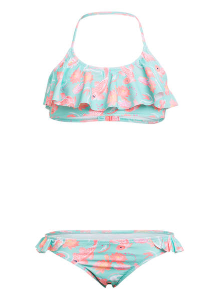 SUNUVA Bustier-Bikini AQUA KOI CARP mit UV-Schutz 50+, Farbe: TÜRKIS/ ROSA (Bild 1)