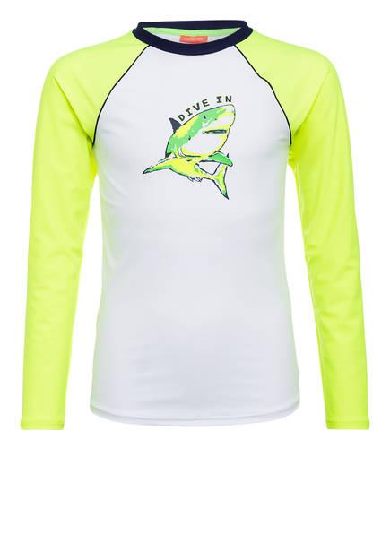 SUNUVA UV-Shirt mit UV-Schutz 50+, Farbe: WEISS/ GELB (Bild 1)