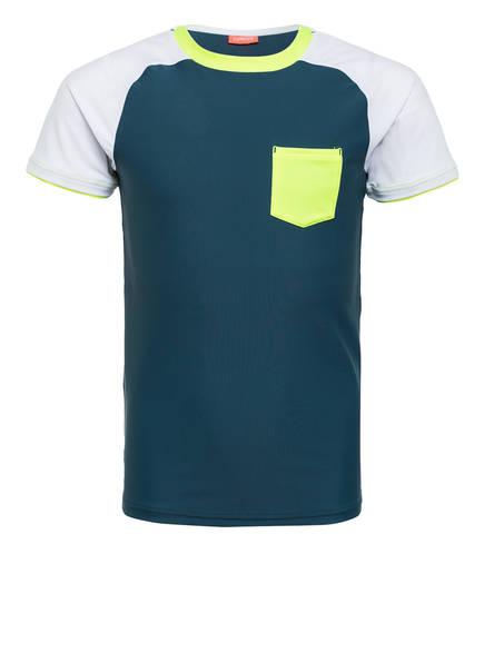 SUNUVA UV-Shirt mit UV-Schutz 50+, Farbe: PETROL/ WEISS (Bild 1)