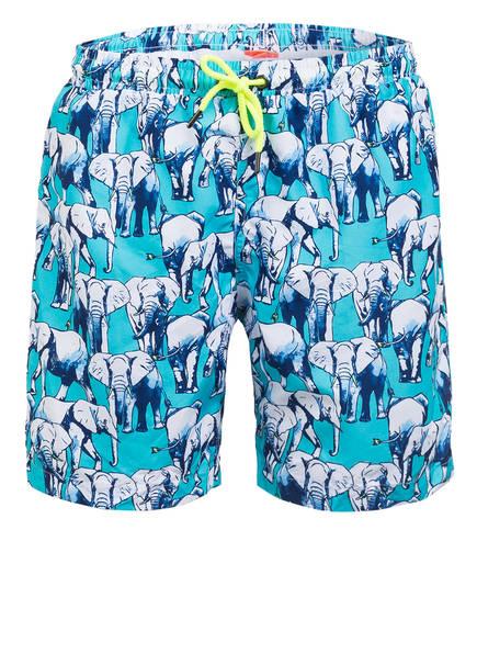 SUNUVA Badeshorts BLUE ELEPHANT mit UV-Schutz 50+, Farbe: BLAU/ WEISS (Bild 1)