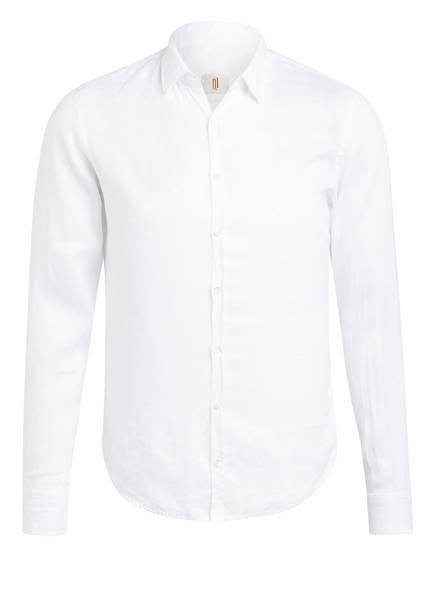 Q1 Manufaktur Leinenhemd STEVE Extra Slim Fit , Farbe: WEISS (Bild 1)