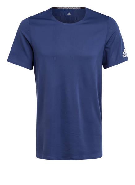 adidas T-Shirt HEAT.RDY, Farbe: BLAU (Bild 1)