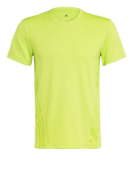 adidas T-Shirt AEROREADY, Farbe: GRÜN (Bild 1)