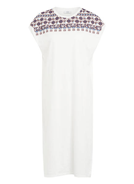 CLOSED Jerseykleid mit Stickereien, Farbe: WEISS (Bild 1)