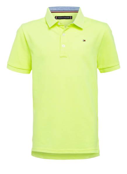 TOMMY HILFIGER Piqué-Poloshirt, Farbe: NEON GELB (Bild 1)