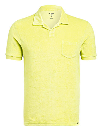 OLYMP Frottee-Poloshirt Body Fit, Farbe: GELB (Bild 1)