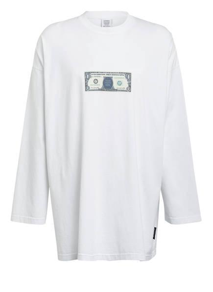 VETEMENTS Oversized-Longsleeve DOLLAR , Farbe: WEISS (Bild 1)