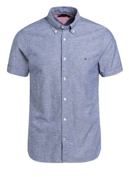 TOMMY HILFIGER Halbarm-Hemd Slim Fit, Farbe: BLAU (Bild 1)