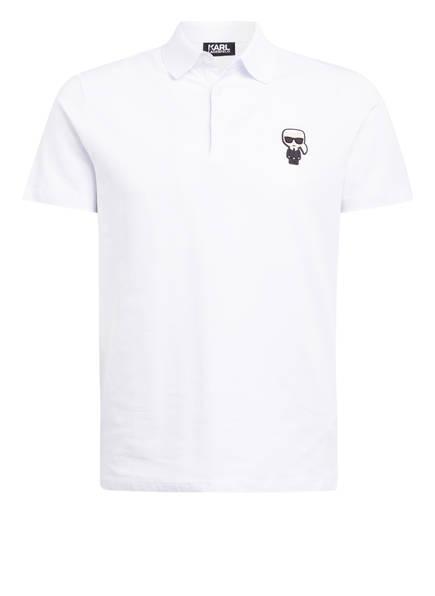 KARL LAGERFELD Jersey-Poloshirt IKONIK, Farbe: WEISS (Bild 1)