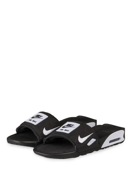 Nike Pantoletten AIR MAX 90 SLIDE, Farbe: SCHWARZ/ WEISS (Bild 1)