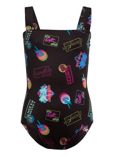 Calvin Klein Badeanzug , Farbe: SCHWARZ/ BLAU/ PINK (Bild 1)