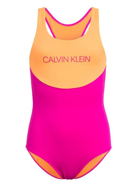 Calvin Klein Badeanzug , Farbe: NEONPINK/ NEONORANGE (Bild 1)